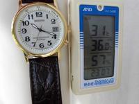 先週はこのくらい暑かったです。真ん中の数字が気温です。