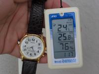 今日の朝の気温です。真ん中の数字です。