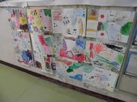 2年生の絵画作品