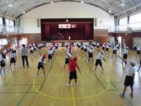 1,2年生のダンスの練習