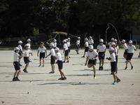 5,6年生の縄跳びを使った表現運動