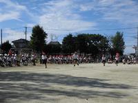 3年生徒競走